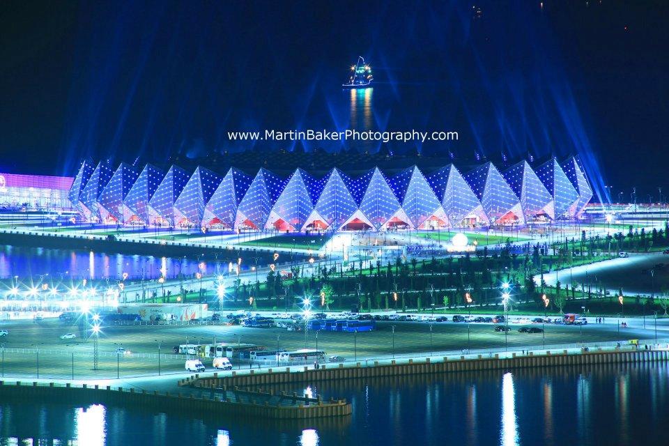 Crystal Hall - Flag Square, Baku Azerbaijan Eurovision 2012. Photograph : http://www.martinbakerphotography.com