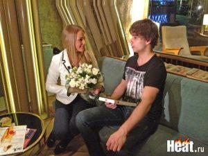 Alyona Lanskaya (Belarus Eurovision 2013) with Alexander Rybak