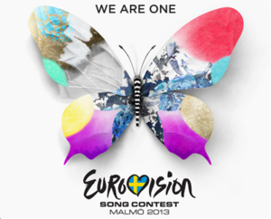 """Eurovision 2013 Logo - """"We Are One"""""""