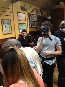 "SVT Film crew in Dublin shooting ""Euphoria"" for the live Eurovision 2013 Shows"