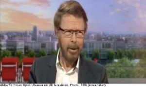 Björn Ulvaeus of Abba stunslive UK television viewers with his Boston Marathon joke