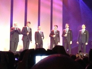 Eurovision Ireland's Elaine Dove with the Eurovision men from Croatia 2013