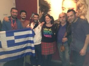 Eurovision Ireland's Elaine Dove with The Greek Eurovision Team for 2013