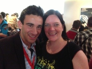 Eurovision Ireland's Elaine Dove with Gianluca from Malta