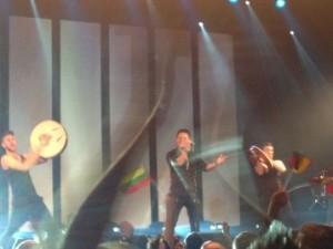 Irish Eurovision Contestant Ryan Dolan taking to the stage in Amsterdam
