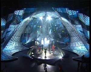 Eurovision stage 1997 by RTE - Photograph Courtesy of EurofanMadrid