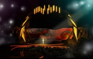 The Malmo Eurovision Stage for 2013 - Photograph courtesy of SVT