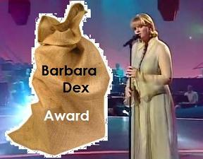 "Barbara Dex Award for ""Worst Dressed"" Artist at the 2013 Eurovision - Photograph EurovisionGeneration /Tumblr"