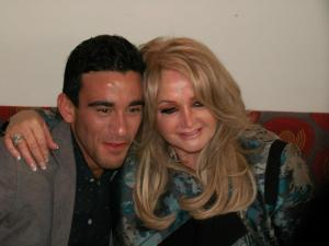 Bonnie Tyler (UK) and Gianluca (Malta) at Eurovision 2013 - Photograph Eurovision Ireland