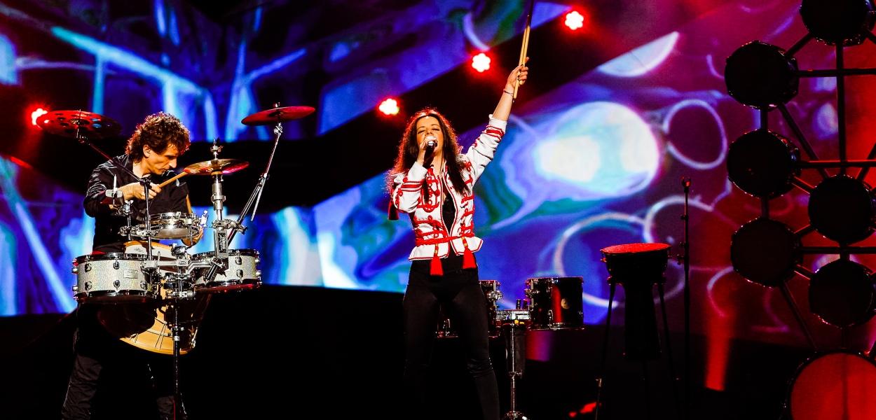 Bulgaria Eurovison 2013 photograph courtesy of Eurovision.tv © Dennis Stachel (EBU)