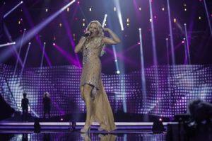 Cascada during their first Eurovision Rehearsal. Photograph courtesy of Photo by Dennis Stachel (EBU)