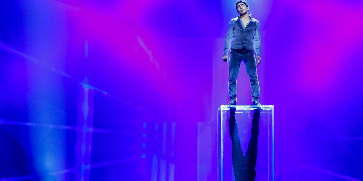 Farid Mammadov - At his first Eurovision Rehearsal in Malmo - Photograph courtesy of Eurovision.tv Photo: Dennis Stachel (EBU)
