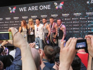 Ryan Dolan and Team Ireland at Eurovision 2013. Photograph Eurovision Ireland