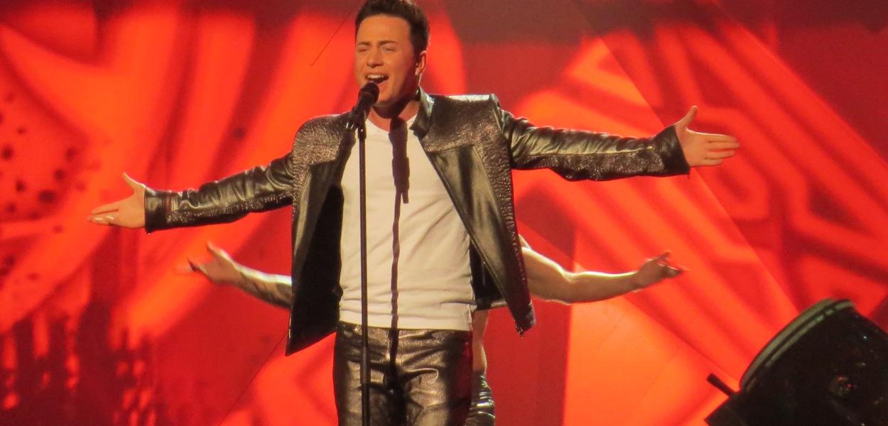 Ryan Dolan - Irish Eurovision Representative 2013. Photograph Eurovision Ireland (Garrett Mulhall)