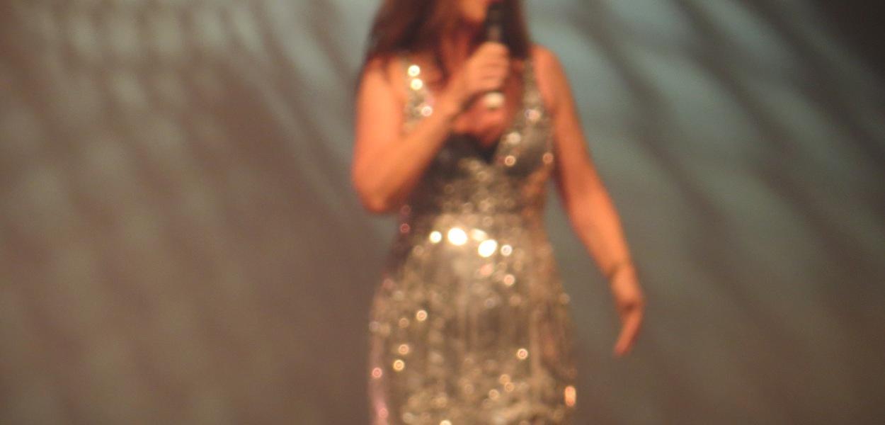 Linda martin performing at EuroCafe at Eurovision 2013 in Malmo - Photograph Eurovision Ireland