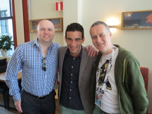 Gianluca )Malta Eurovision 2013) with Garrett and Andrew from the Eurovision Ireland Team