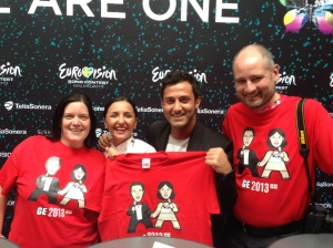 Nodi and Sophie, Eurovision 2013 Georgia with Elaine and David