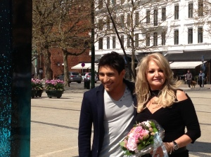 Farid Mammadov and Bonnie Tyler at Azerbaijan and UK joint press event