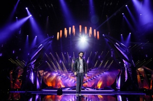 Marco Mengoni in his 1st rehearsal in Malmo