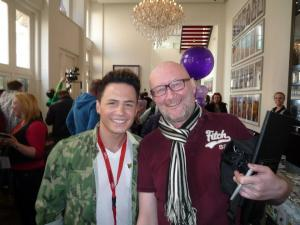 Eurovision Ireland's Good Friend Keith Mills from AKOE with Ryan Dolan - Photograph courtesy of Keith Mills Facebook