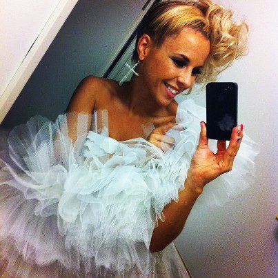 "Krista Siegfrids gets divorced - ""Amen"". Photograph courtesy of Facebook"