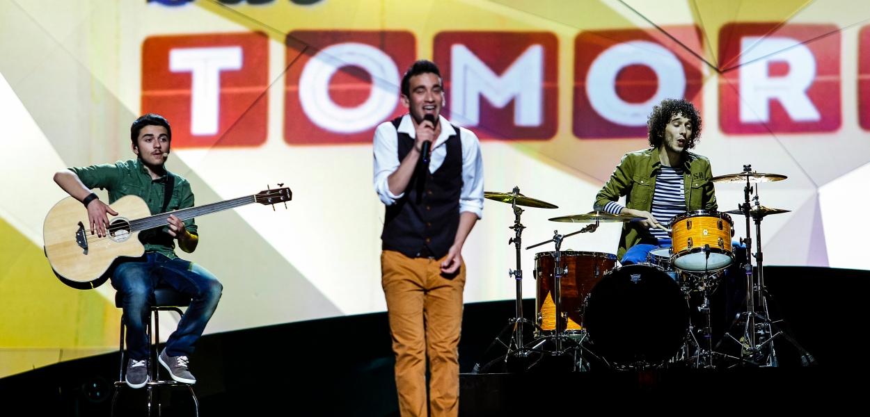 Gianluca from Malta - Photograph courtesy of Eurovision,tv © Dennis Stachel (EBU)