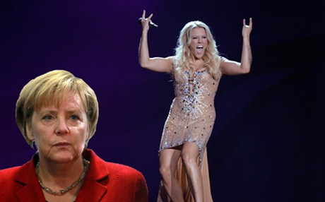 Did Angela Merkel cost Cascada/Germany a Top 5 place at Eurovision 2013? Photograph courtesy of news.gr