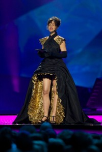 Petra Mede - Eurovision Host 2013 - Semi Final 2 dress. Photograph courtesy of Zimbio
