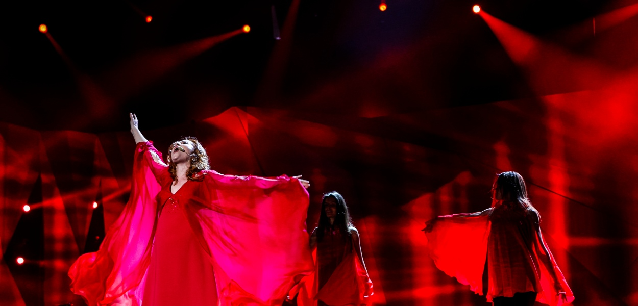 Valentina Monetta Rehearsal Picture - Photograph courtesy of © Dennis Stachel