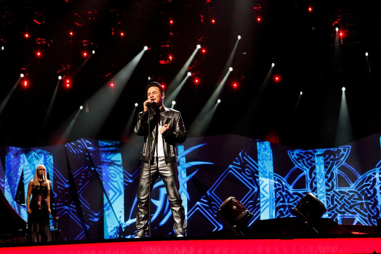 Ireland's Ryan Dolan : First rehearsal © Thomas Hanses (EBU)