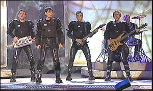 S.A.G.A.P.O. - Greek Eurovision Representatives 2002 and winners os the Barbara Dex Award. Picture courtesy of the BBC