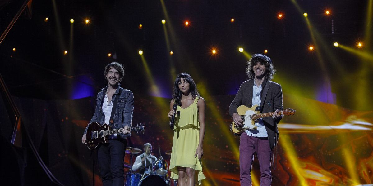 Spanish Eurovision Rehearsal - Photograph courtesy of Eurovision.tv Dennis Stachel (EBU)