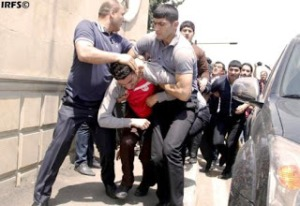 Arrests Made in Baku during Eurovision 2012 by plain clothed police. Photograph courtesy ofhttp://alt-world-watch.blogspot.ie/