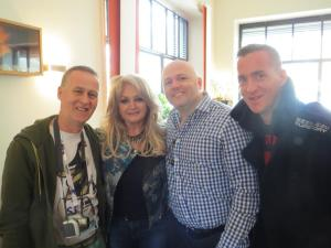 Eurovision ireland with Bonnie Tyler - Eurovision representative for the UK 2013. Photograph Eurovision Ireland