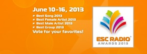 ESC Radio Awards 2013 - Vote for your favorite acts at Eurovision 2013. Photograph courtesy of  ESC Radio