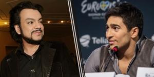 Eurovision Stars Phillip Kirkorov (Russia 1995) and Fraid Mammadov (Azerbaijan 2013). Photograph courtesy of EuroMedia Group