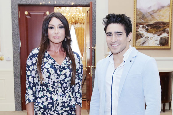 Farid Mammadov meets the Azerbaijan First Lady. Photograph courtesy of mehriban-aliyeva.org