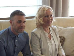 Abba's Agnetha Fältskog and Gary Barlow collaborate. Photograph courtesy of Facebook