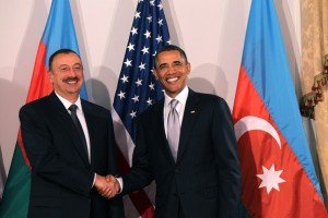 Alleged threat on President IIham Aliyev of Axerbaijan  - during Eurovision 2012 - seen here with Presidet Obama of America. Photograph courtesy of Zimbio