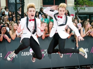 Jedward on the Red Carpet at the MMV Awards in Canada last weekend. Photograph Courtesy of Windsorstar.com