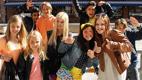 "JESC Sweden 2013- Final tonight of ""Lilla Melodifestivalen"". Photograph courtesy of Mike Gronberg of Swedish Radio"