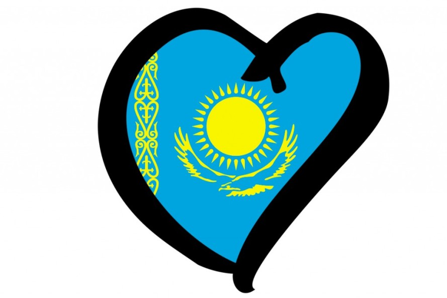 Kazakhstan Eurovision Flag - Photograph courtesy of Wikipedia/EBU