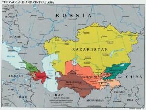 Kazajhstan Map - Photograph courtesy of www.lib.utexas.edu
