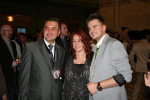 Marcin Mroziński(Eurovision 2010), Niamh Kavanagh (Eurovision 1993 and 2010) and Eurovision Ireland friend Szymon Stellmaszyk. Photograph courtesy of  eurovision-windmachine.blogspot.com