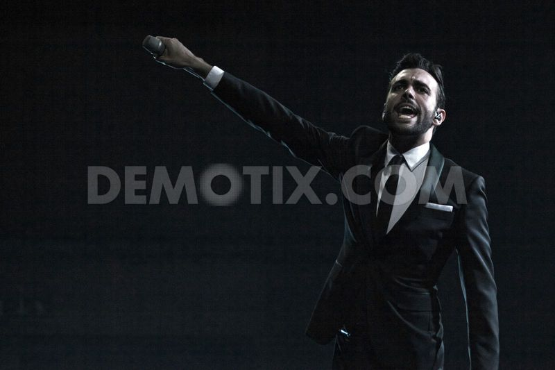 Marco Mengoni _ Italian Eurovision Representative 2013 - continues his Sold Out Italian Concert. Photograph Courtesy of Stefano Costantino - Demotix.com