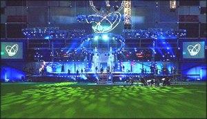 Parken Stadium in Copenhagen - Eurovision 2001 Stage. Photograph courtesy of Wikipedia
