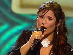 Rosa Lopez - Spainish Eurovision Representative 2002. Photograph courtesy of Elmundo.se