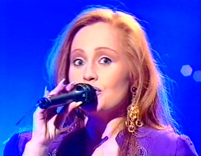 Sonja - UK Eurovision Representative 1993. Photograph courtesy of YouTube