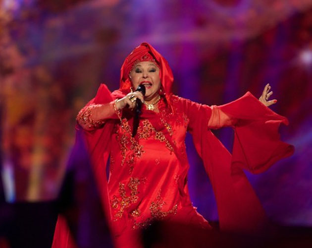 Esma - FTR Macedonian Eurovision Entrant 2013 with Lozano. Photograph courtesy of cromosomax.com