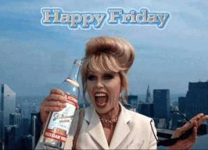"""Happy Friday - Bottoms Up"". Photograph courtesy of Whosay.com"